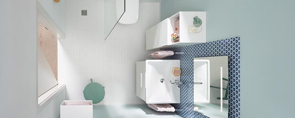 des meubles et accessoires pour les petites salles de bain burgbad. Black Bedroom Furniture Sets. Home Design Ideas