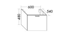 vanity unit for Countertop